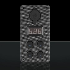 STEDI - CARBON SWITCH PANEL WITH USB AND DIGITAL VOLT METER