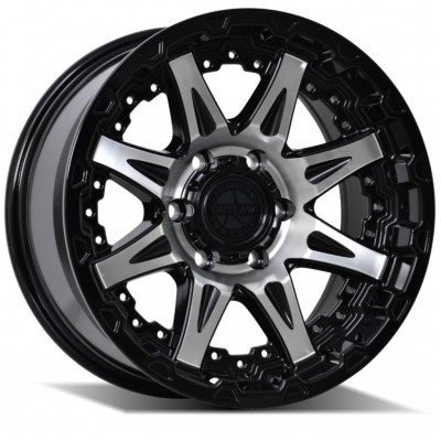 American Outlaw Doubleshot Machined 17X8.5 6X139 +18