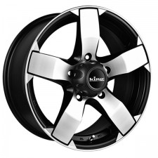 KING AVENGER 5 BLACK MACHINED 18X8 5X150 +50