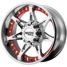 Moto Metal MO961 Custom Red Inset