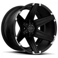 TUFF T-12 black 17x9 6x139 +15 Black